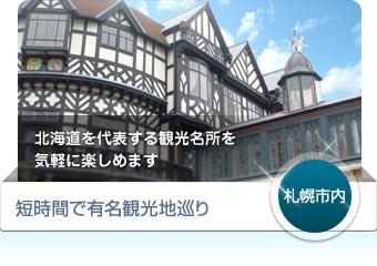 【札幌市内】短時間で有名観光地巡り - 北海道を代表する観光名所を気軽に楽しめます